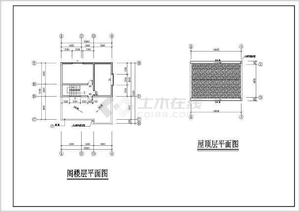 某地2层砖混结构别墅建筑和结构施工图纸