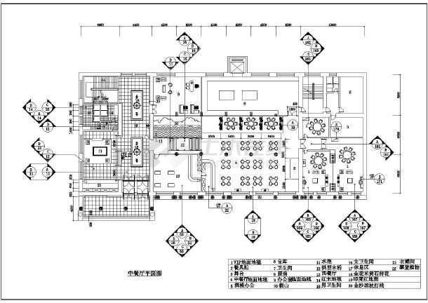 图纸 装修设计 酒店装修 中餐厅装修 豪华中式两层餐厅建筑室内装修