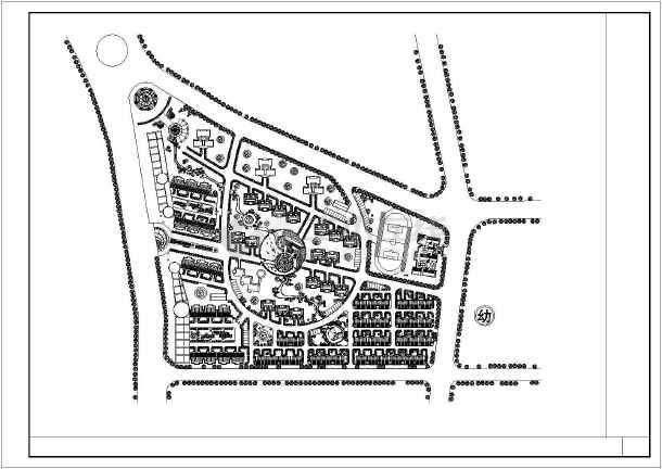 某地某临街住宅小区规划总平面图设计方案