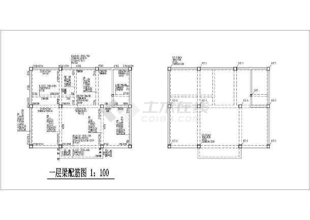 某地区五层底框砖混结构别墅结构施工图