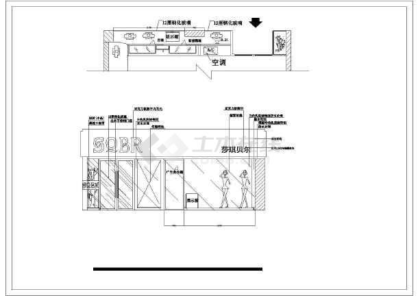 图纸内容包括:平面布置,顶面布置图,符号索引表,立面详图,综合挂件