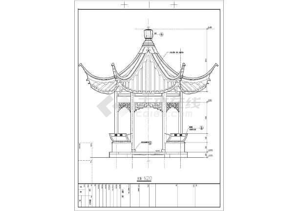 比较常用的六角亭的景观设计施工图
