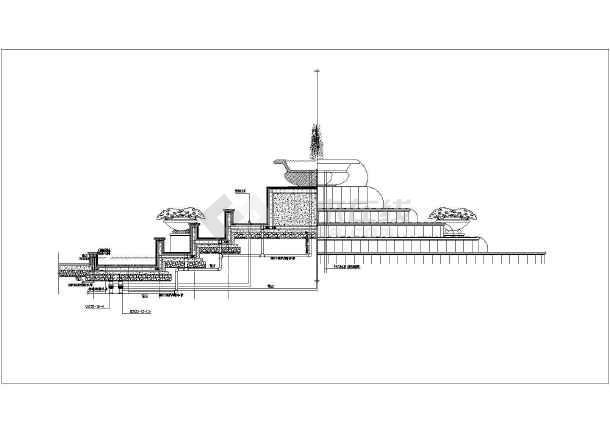 图纸 园林设计图 小品及配套设施 水景喷泉设计图 某地一套景观喷泉施