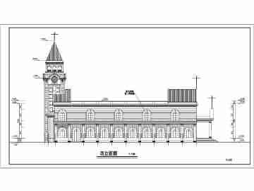 教堂手绘平面图