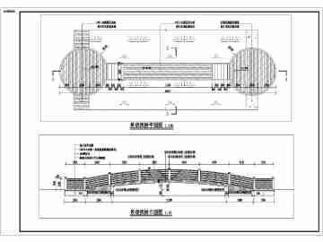 某钢结构防腐木拱桥设计全套施工图纸