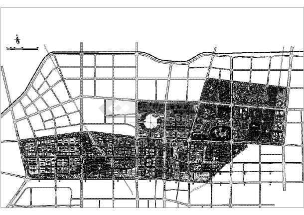 设计平面图,面积比较大,规划内容涵盖了:住在小区,城市公园,城市会展