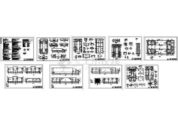 某污水综合处理池结构设计施工图纸