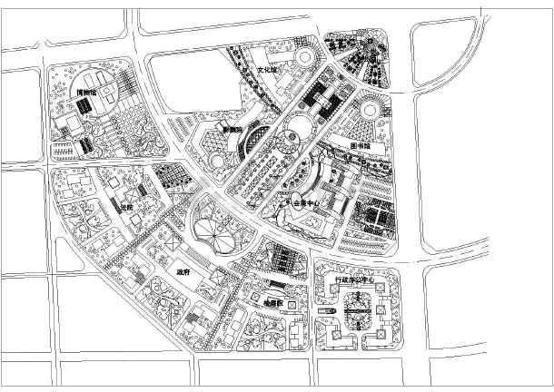 南方某行政中心区城市规划设计方案
