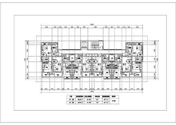 某地住宅小区公租房户型平面布置图纸