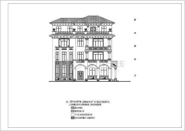 某地四层别墅建筑框架结构设计方案图