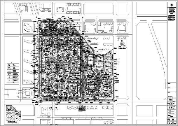 唐山铂悦山高层住宅小区规划平面总图图纸