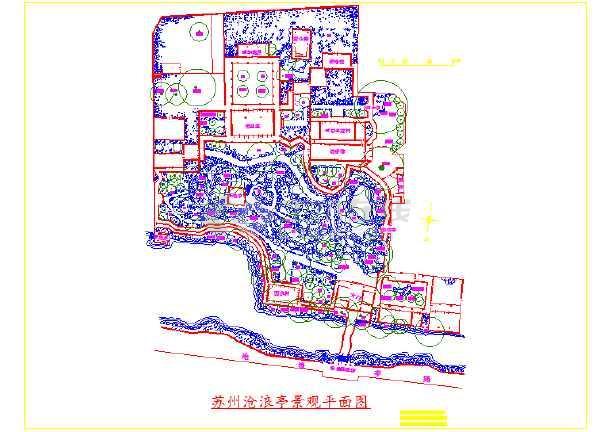 苏州古典园林景观设计平面图(cad)