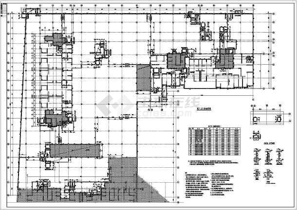 某地地下车库及周边坡道结构设计图
