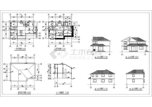 乡村独栋别墅建筑设计方案图,含效果图-图1