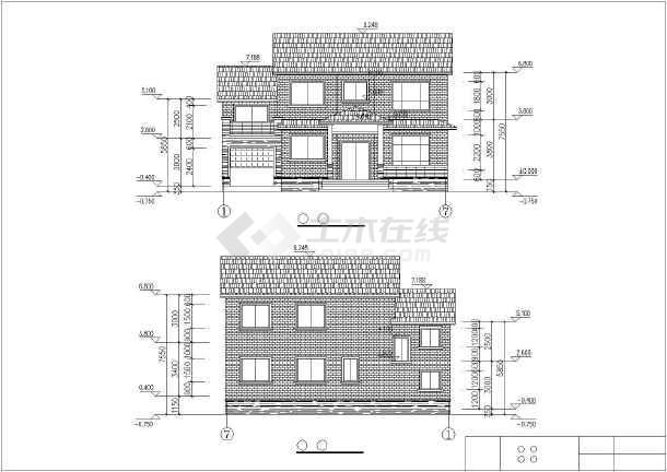某农村两层别墅建筑设计施工图