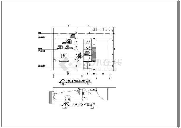 致三室装修天花吊顶cad平面设计施工图纸 全套