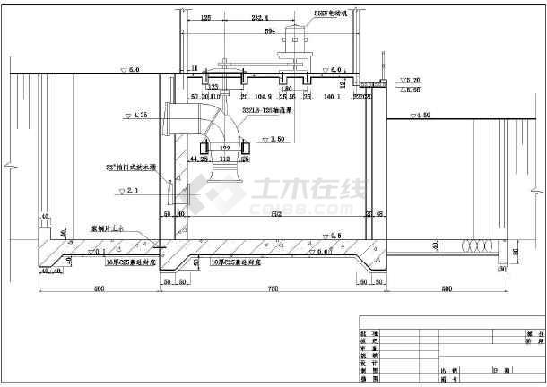 某处小型排水沟系排水闸结构设计图-图3