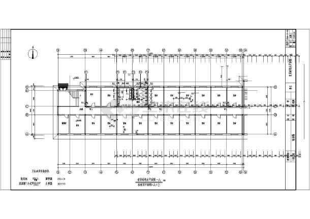 某地六层学生宿舍楼建筑给排水设计图