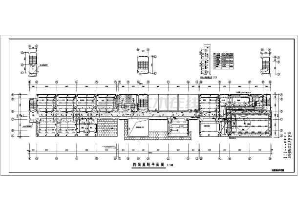 一栋4层的小学教学楼电气设计施工图
