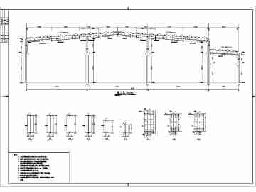 某地钢筋混凝土排架结构厂房结构施工图