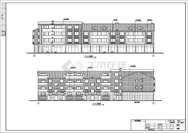 某地三层框架结构商住楼建筑设计方案图