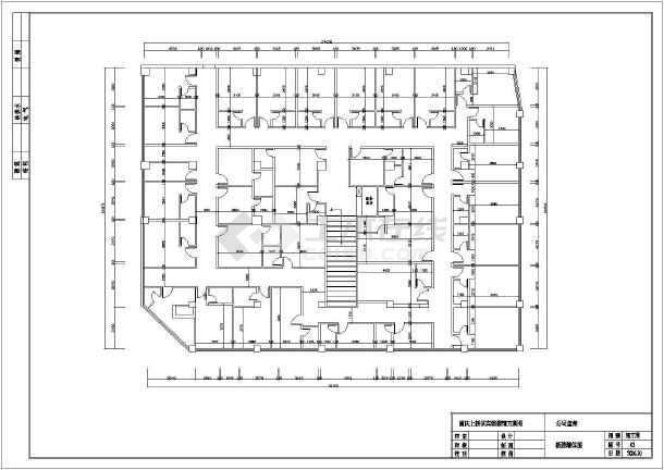 重庆上桥某宾馆室内装修设计方案图,有原始结构图,平面布置图,新建