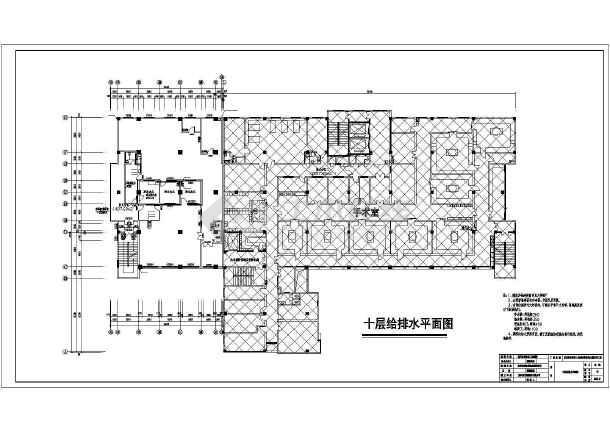 重庆市某医院住院部大楼扩建工程排水竣工图图片