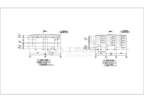 某地单层轻型钢结构厂房结构设计施工图