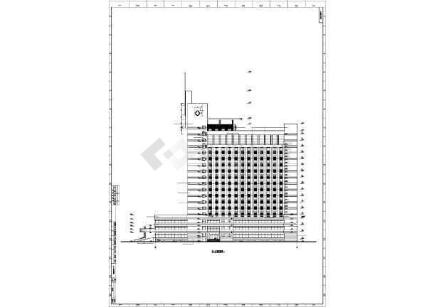 某地高层框架结构中心医院建筑施工图