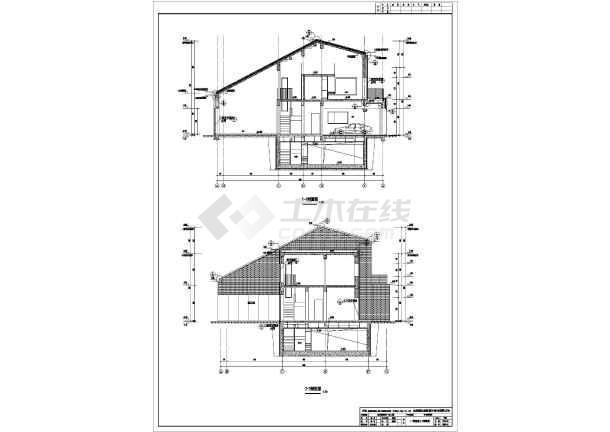 北京2层混凝土框架结构别墅建筑,结构和水电施工图纸