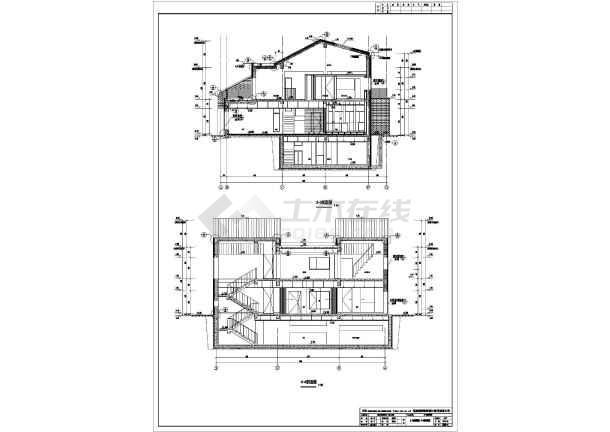 图纸 建筑图纸 别墅图纸 别墅设计图 北京2层混凝土框架结构别墅建筑