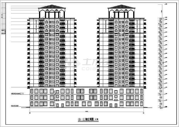 高层住宅 某地19层一梯12框架结构户塔楼