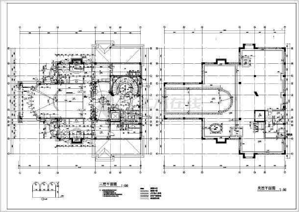 某意大利式独立别墅建筑方案设计图_cad图纸下载-土木