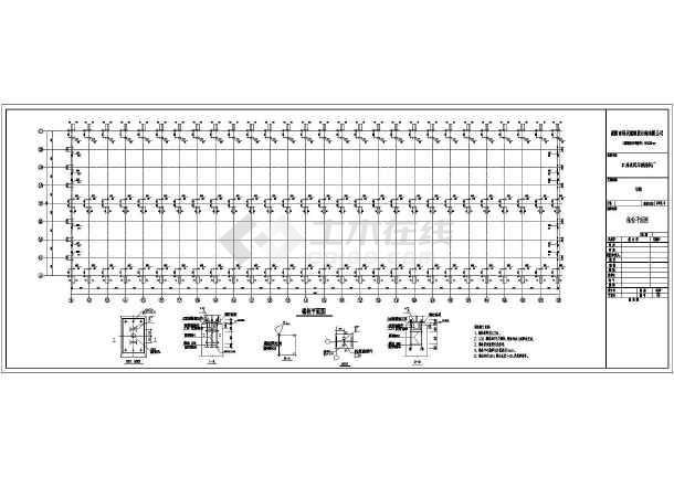 某地层钢排架结构厂房全套结构施工图