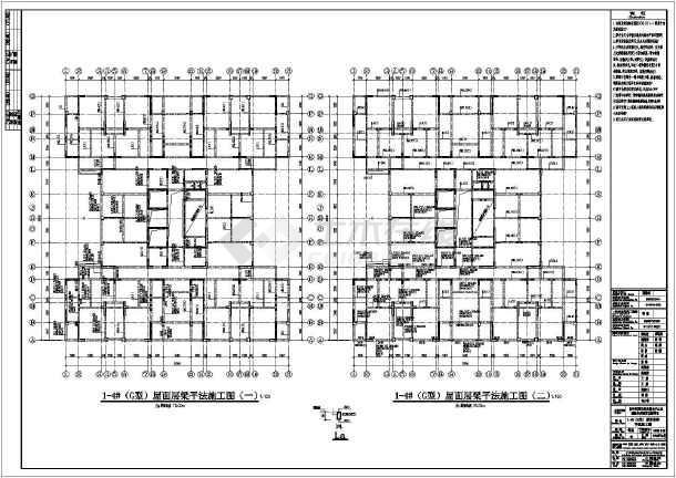 28层剪力墙结构公租房结构图(小户型)