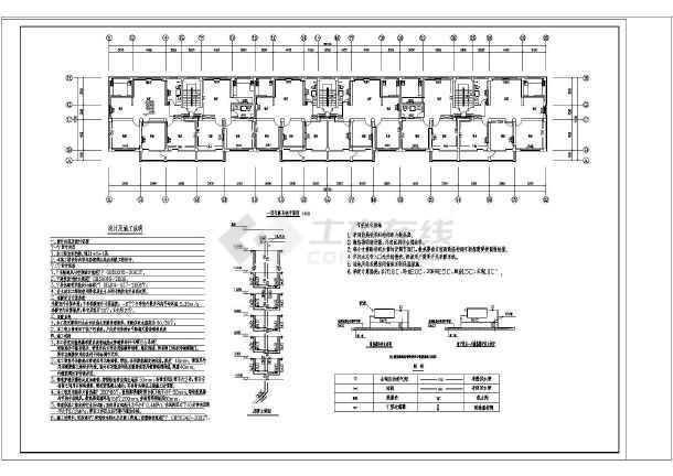 某地多层拼图暖气片采暖供热系统设计图纸_ceva建筑纸豆图片