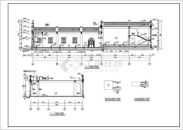 某剧场给排水平面及空调系统设计图