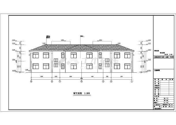 某地两层框架结构别墅建筑,结构施工图