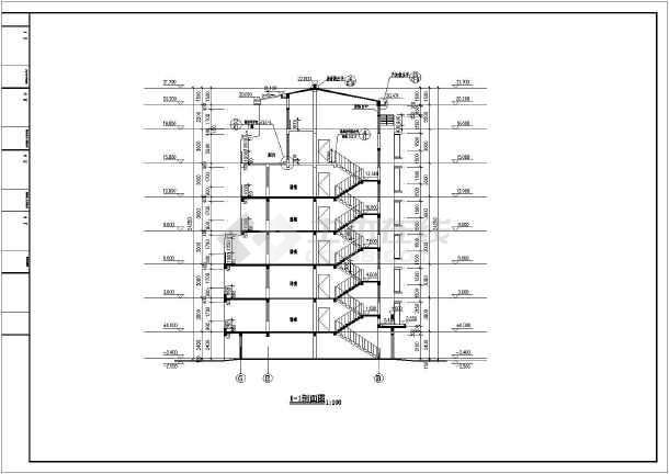 大足县多层居民住宅楼建筑设计施工图(cad图纸下载)