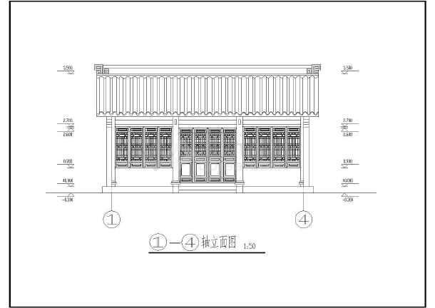 浙东运河柯桥段古建单层附属用房建筑结构施工图