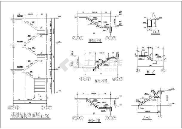 三套精品框架结构别墅建筑和结构施工图