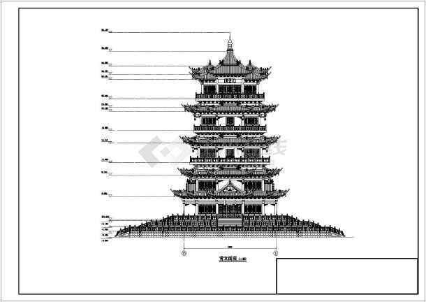 五层古建阁楼建筑设计方案,地下一层,图纸主要包括:各层,阁楼层平面图