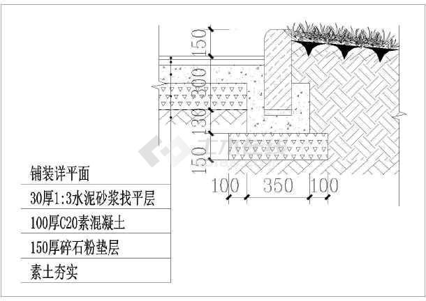 圆形树池,方形树池,路沿石及花槽做法_cad图纸下载