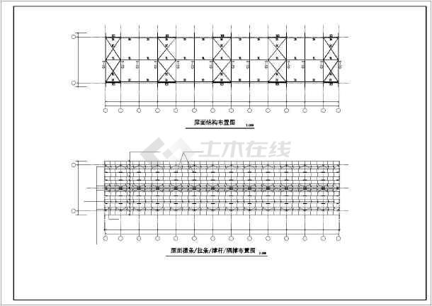 钢结构 图纸 停车/钢结构停车棚图纸/图1