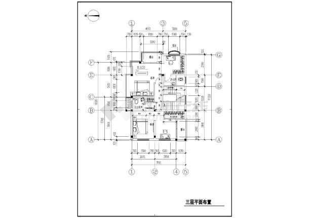 图纸 建筑图纸 居住建筑 户型图 一套完整的农村自建房图纸  简介:本