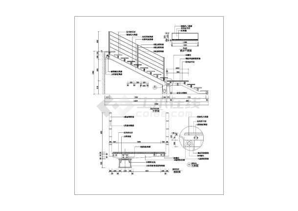 施工设计图,图纸内容包括双跑,椭圆,直跑楼梯等不同的样式的做法等,本