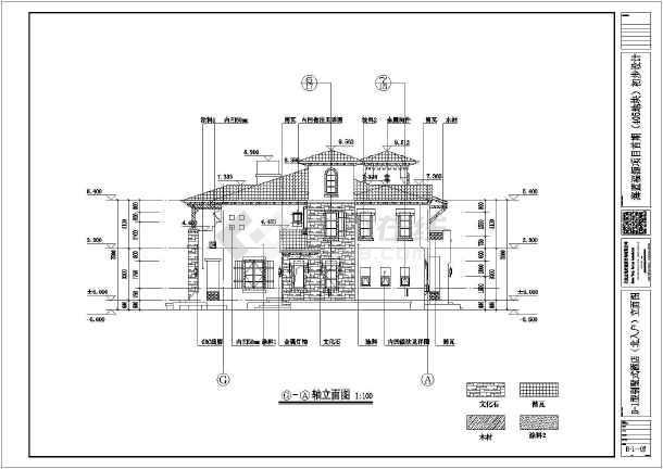 北京某别墅住宅区建筑方案设计图纸