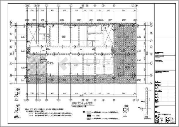 某地22层框剪结构百米办公楼结构方案图