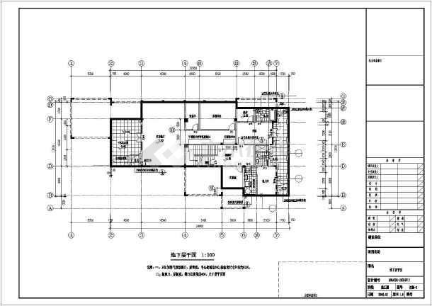 【江阴】某二层欧式风格别墅建筑施工图