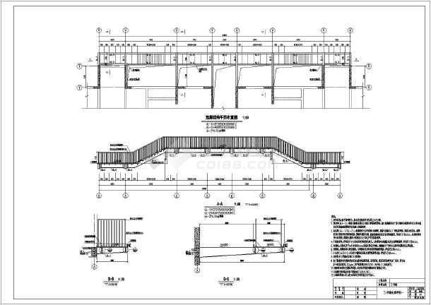 某高层建筑外墙悬挑钢结构走廊结构施工图